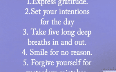 Five Things to do Before you Get Out of Bed