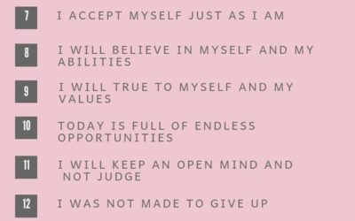 20 Morning Affirmations