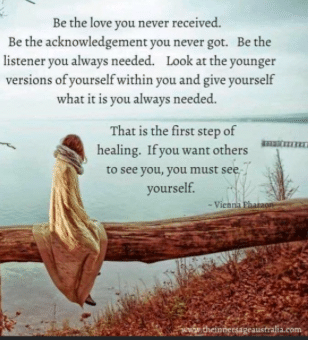 """""""Be the Love you Never Received"""" Quote"""