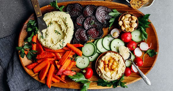 No-Cook Veggies and Dip Snack Board