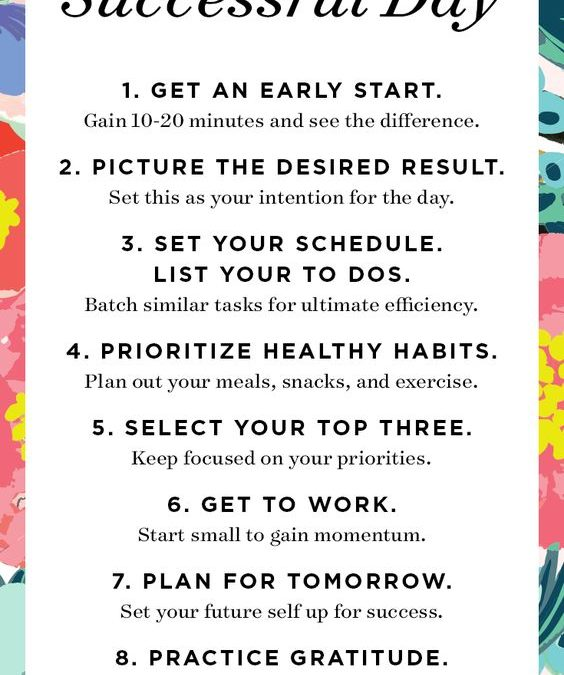 10 Ways to Plan a Successful Day