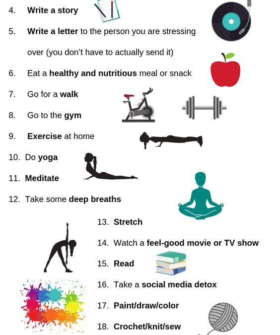 25 Positive Coping Skills for Stress and Anxiety