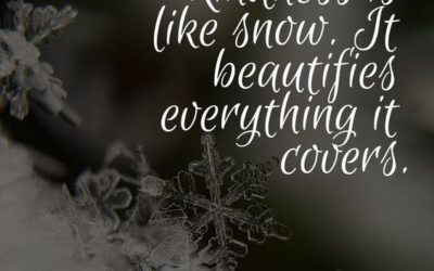 """""""Kindness is Like Snow"""" Quote"""